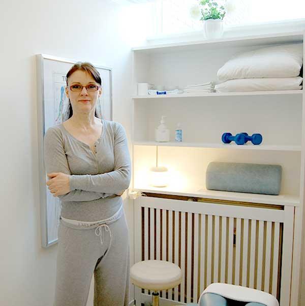 Eva Aalbæk Nielsen, massør, dybdemassage, løsner spændinger